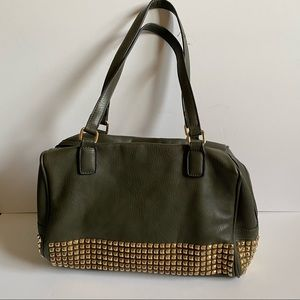 Women's Green Studded Shoulder bag
